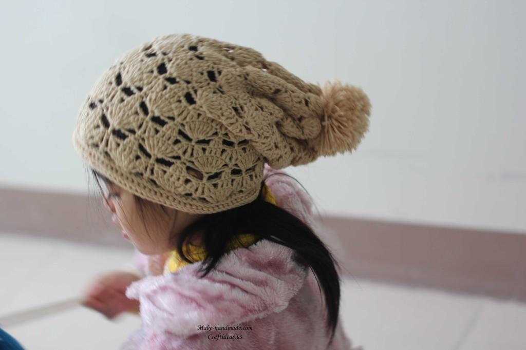 crochet fall leaf hat