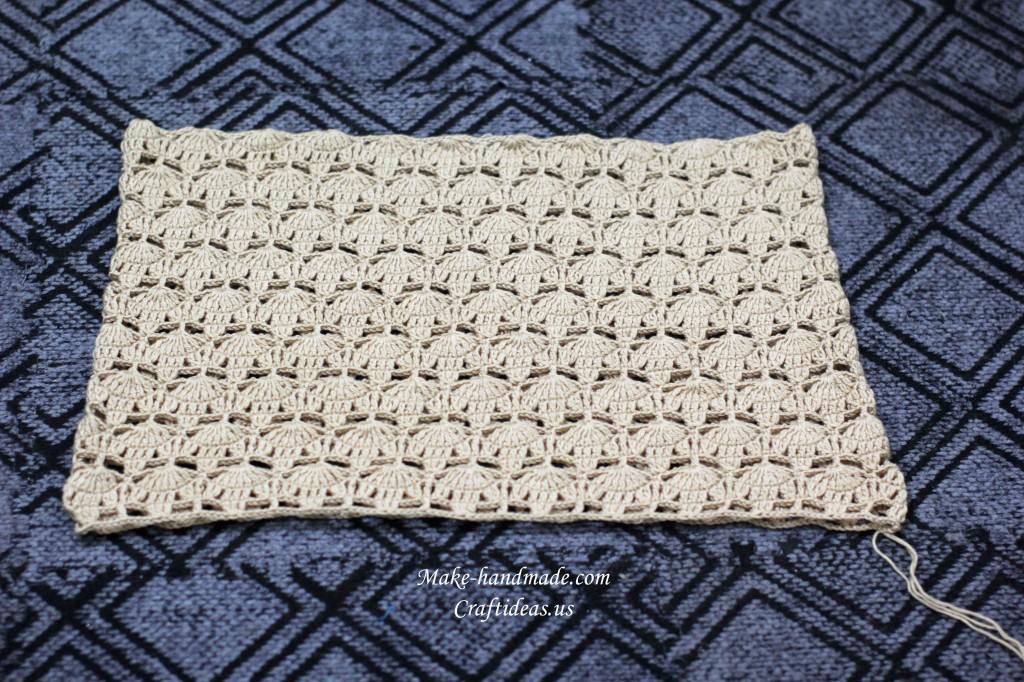 crochet fall leaves poncho
