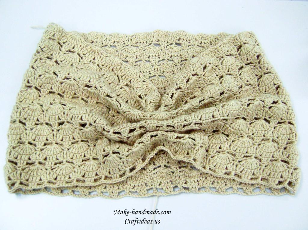 crochet fall leaves poncho 2