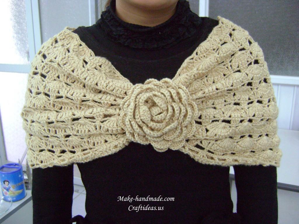 crochet fall leaves poncho 23