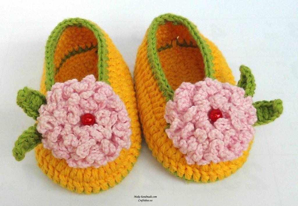 crochet flowers booties