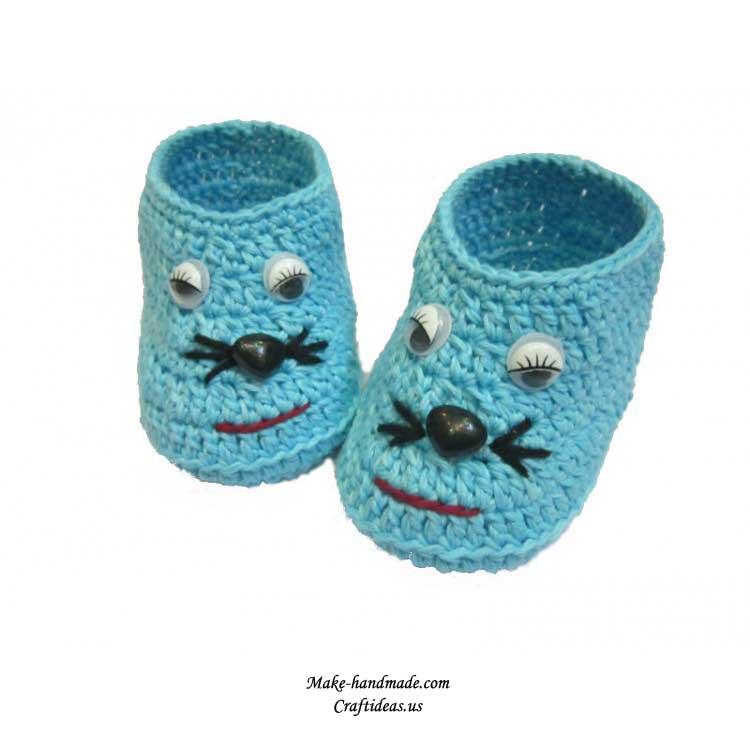 婴儿鞋编织款式花样
