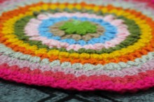 crochet colorful mat rug