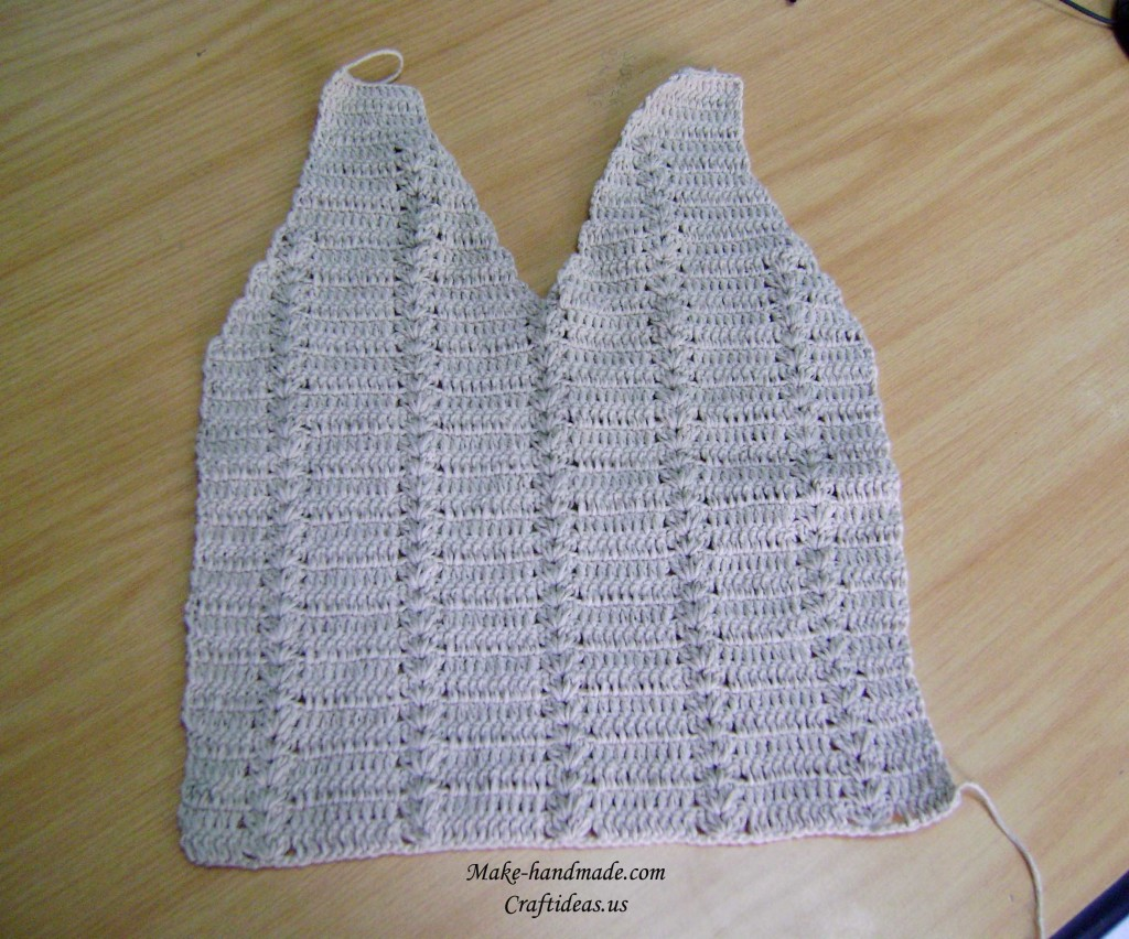 crochet front part of baby gilet