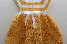crochet flower baby dress