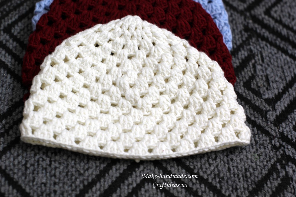 Crochet Hat Pattern Shell Stitch : shell crochet beanie hat make handmade, crochet, craft