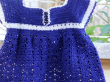 crochet baby dress, photo tutorial