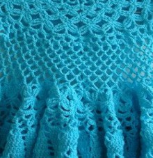 crochet lace baby dress