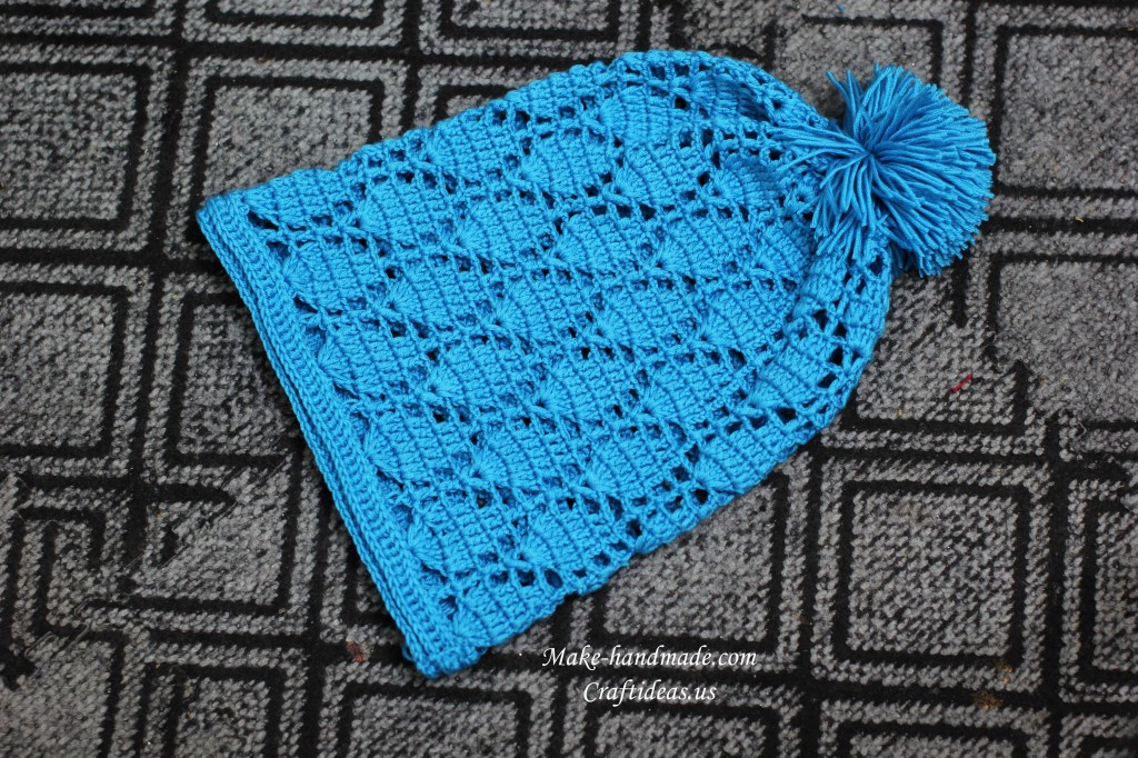 crochet lace girl hat