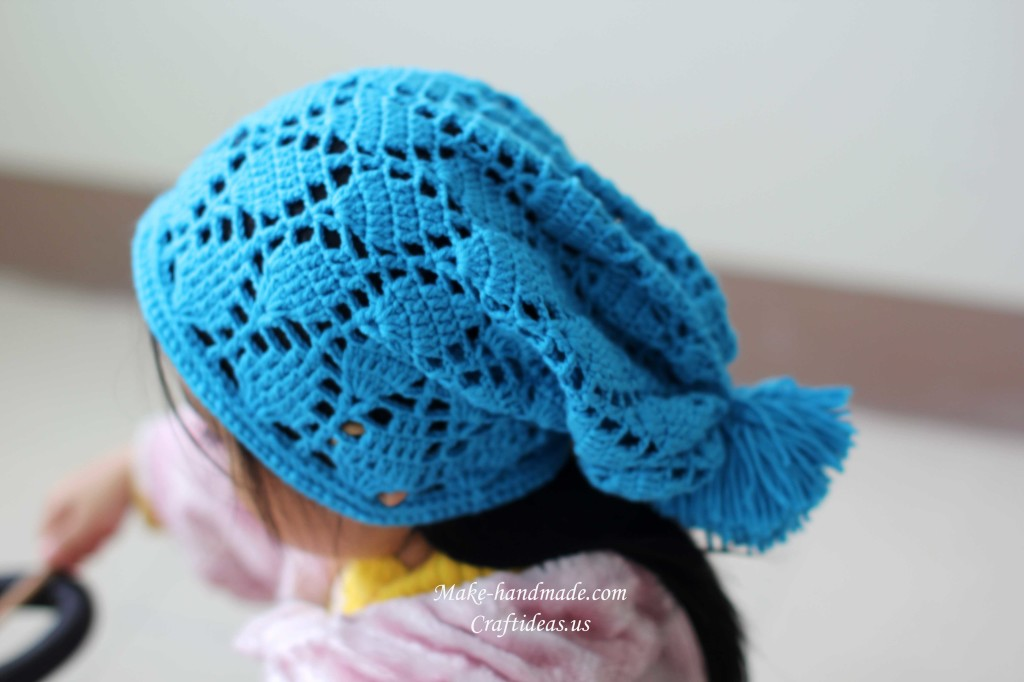 crochet lace hat 1