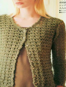 crochet lace jacket and vest crochet pattern
