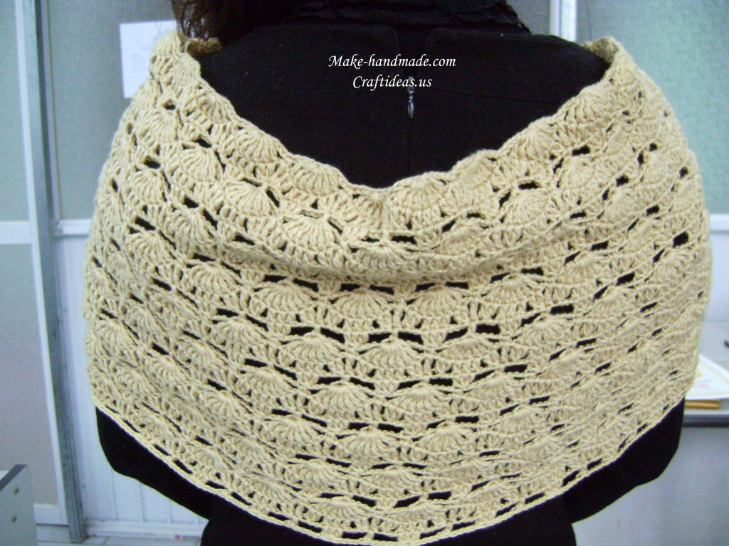 crochet lace poncho for girl