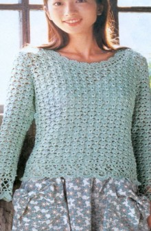 crochet lace sweater