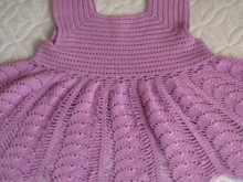 crochet leaves baby dress