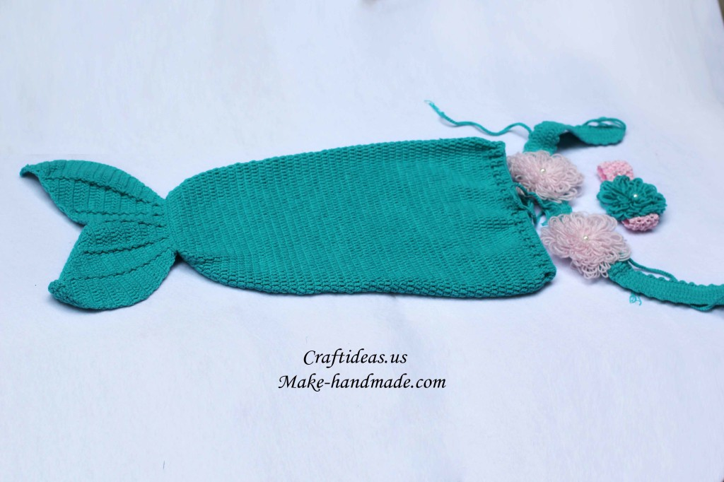 crochet little mermaid set for summer