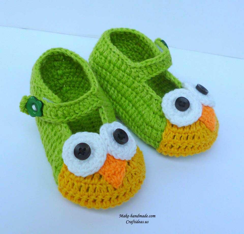 Crochet Owl Baby Booties Pattern : crochet baby booties, more ideas make handmade, crochet ...