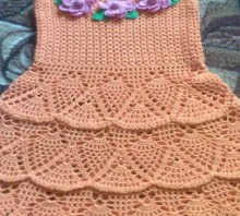 crochet pineapple dress, crochet pattern
