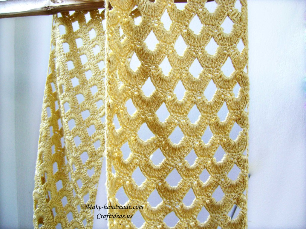 crochet scarf for girl