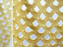 crochet gold lace scarf