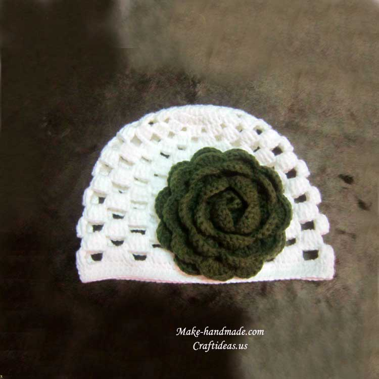 Crochet Shell Beanie Hat Pattern : shell crochet beanie hat make handmade, crochet, craft
