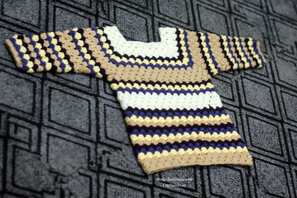 crochet shell sweater