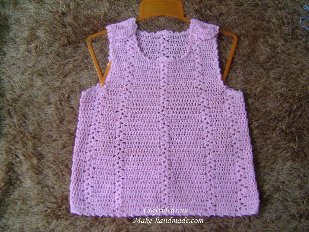 crochet baby summer dress, crochet pattern make handmade ...
