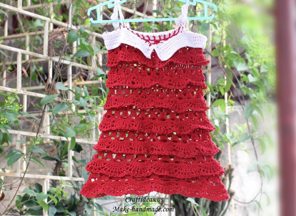 Crochet Ruffled And Layers Dress Make Handmade Crochet Craft
