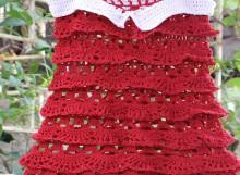 crochet ruffled and layers dress