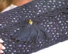 black wallet with fancy pattern