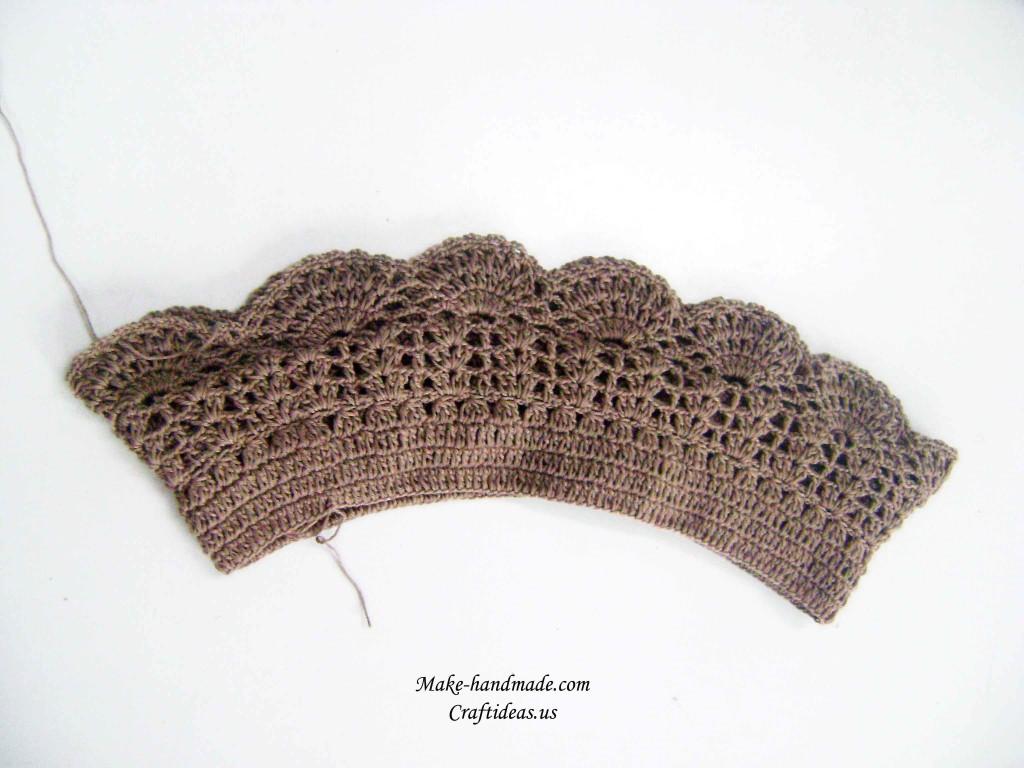 钩针编织多层婴儿衣服儿童毛线背心裙教程_美美编织