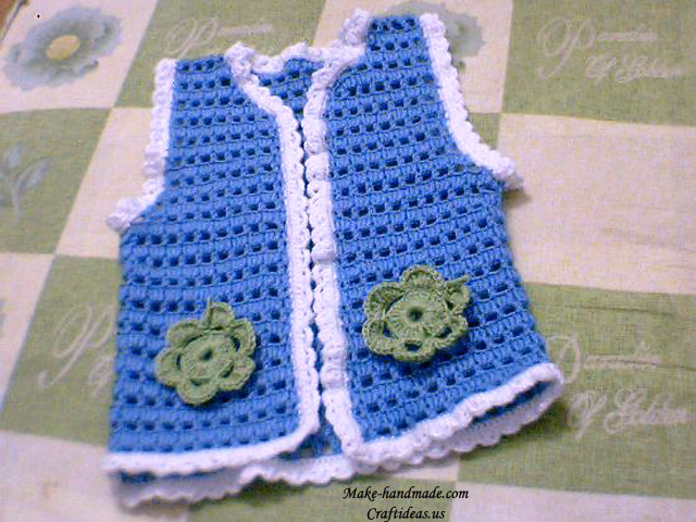 crochet baby vest make handmade, crochet, craft