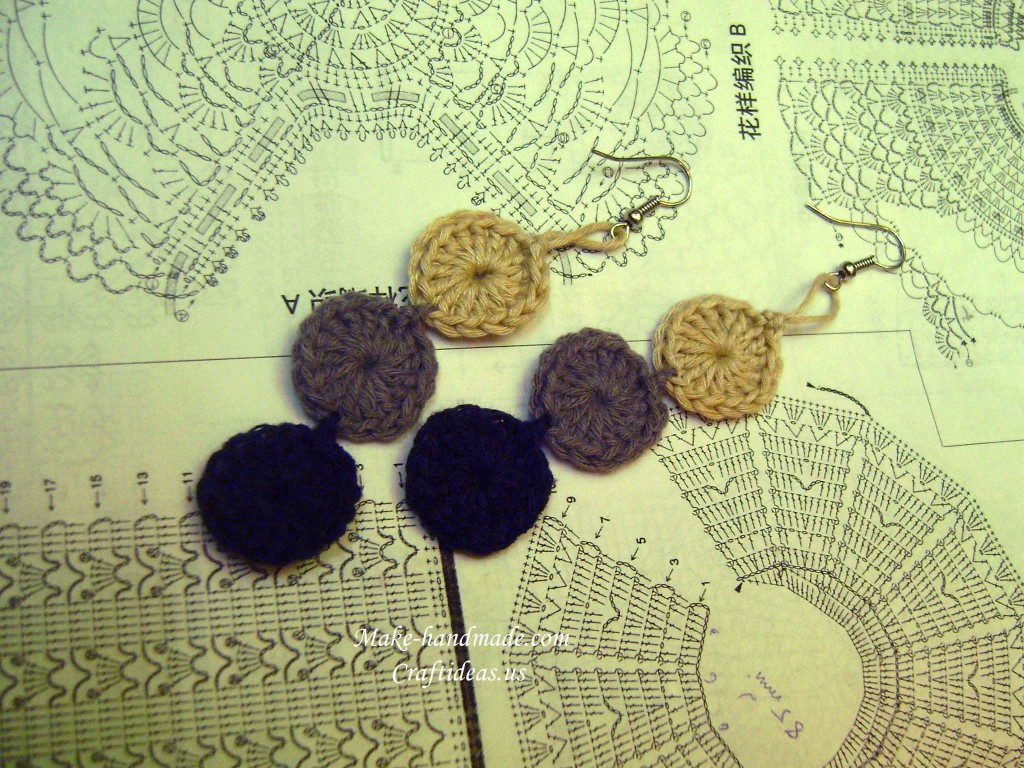 crochet beauty earrings
