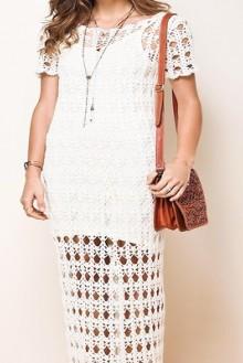 crochet beauty lace dress for beach