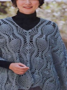 crochet beauty lace poncho, crochet pattern