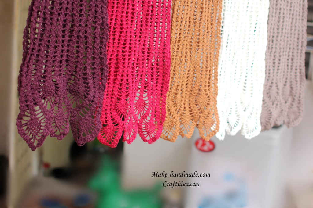 crochet beauty lace scarves