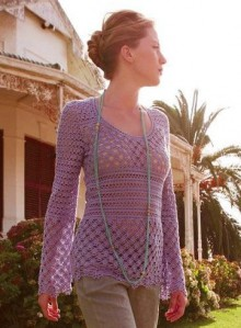 crochet beauty lace summer pullover