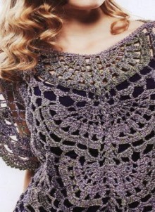 crochet beauty lace top for girl