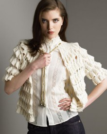 crochet beauty ruffled jacket and cardigan