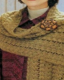 crochet beauty and warm scarf for winter