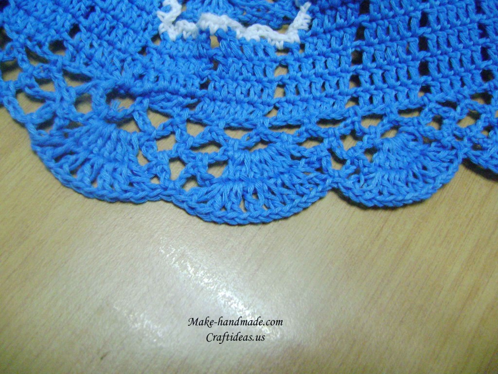 crochet bottom part of baby dress