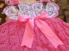 crochet butterfly baby dress