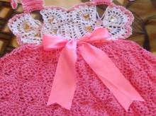 crochet butterfly baby dress