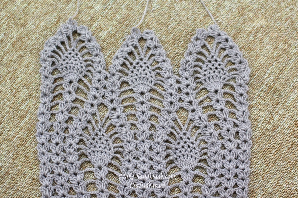 crochet charming lace scarf