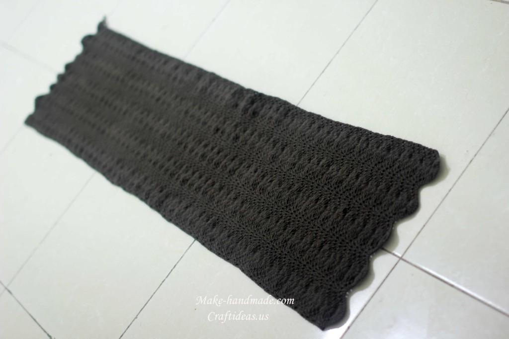 crochet charming lady scarf