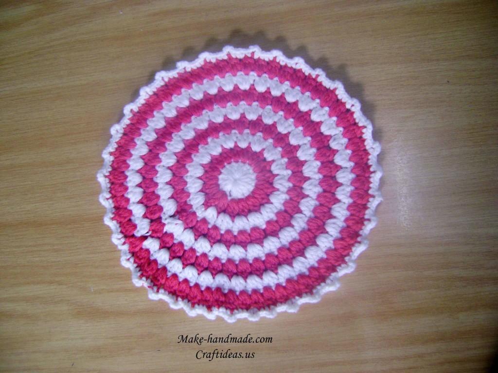 crochet circle for handbag