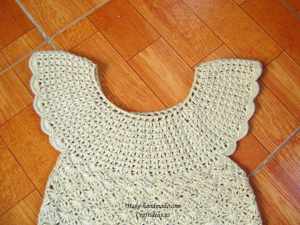 crochet collar dress