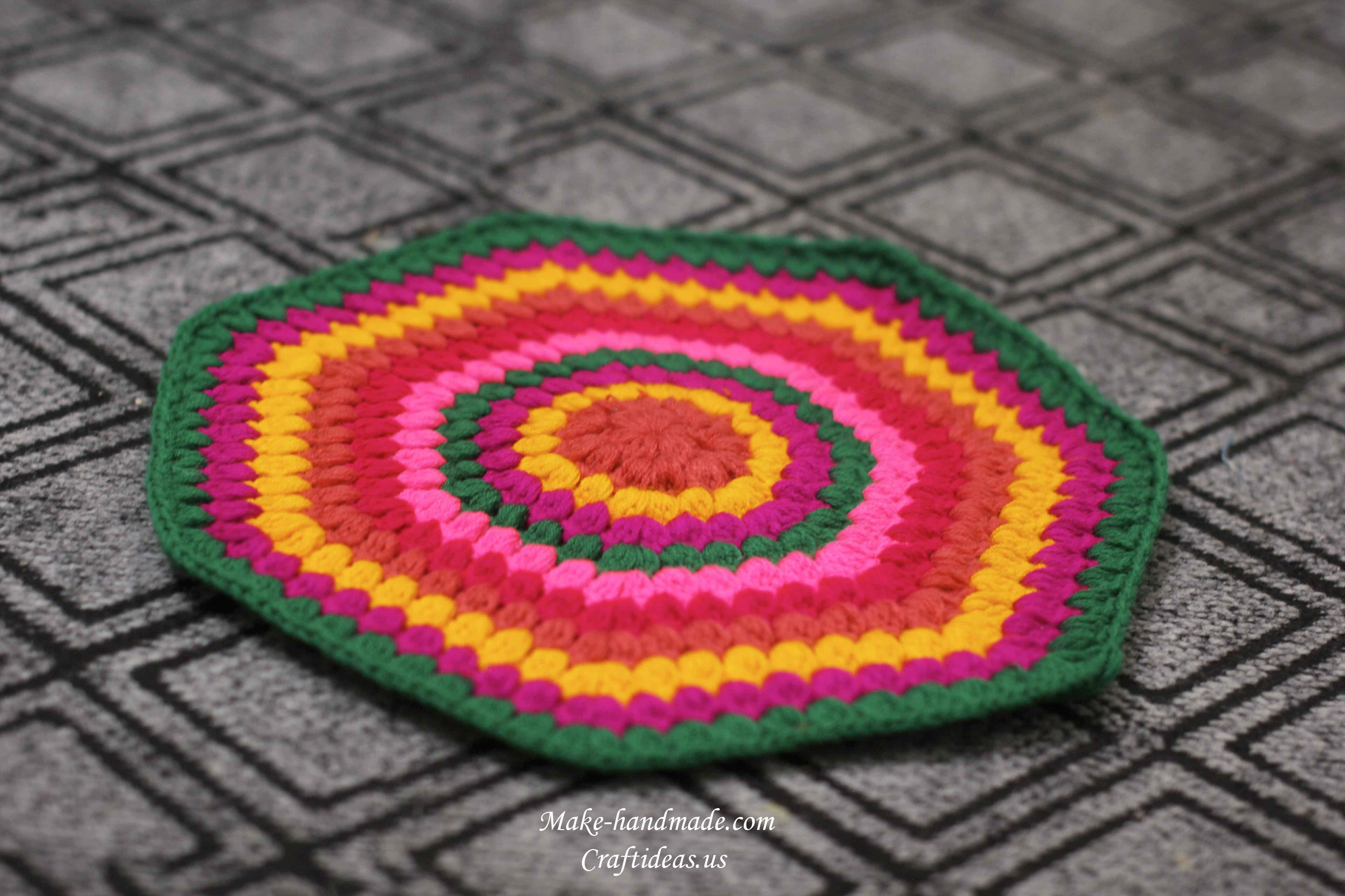 crochet colorful handmade rug ideas