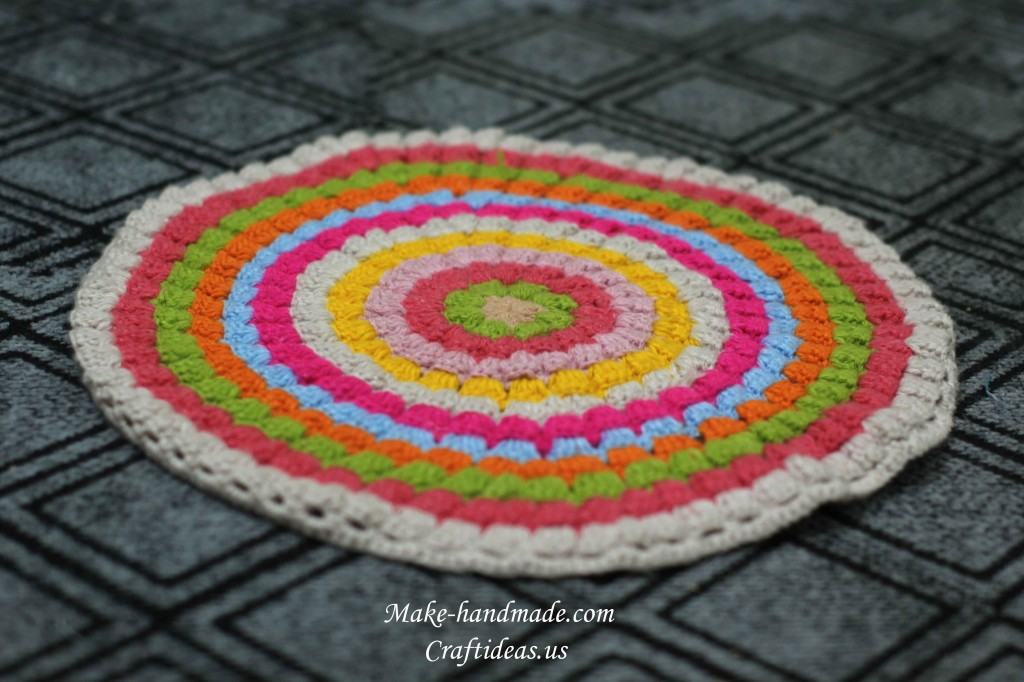 crochet colorful rug
