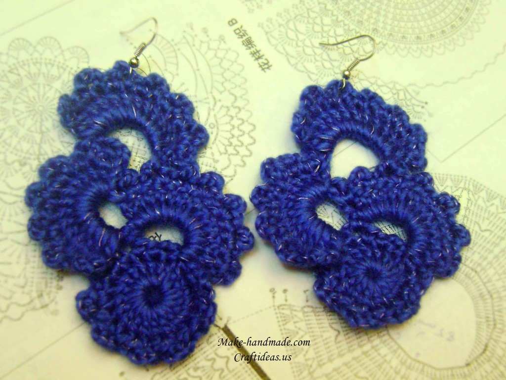crochet cute earrings