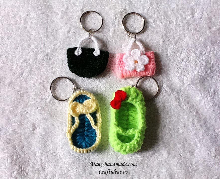 crochet cute key chains